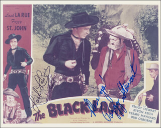 THE BLACK LASH MOVIE CAST - AUTOGRAPHED SIGNED PHOTOGRAPH CO-SIGNED BY: PEGGY STEWART, LASH LA RUE