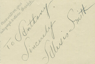 ALEXIS SMITH - AUTOGRAPH NOTE SIGNED