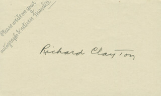 RICHARD CLAYTON - AUTOGRAPH