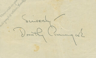 DOROTHY CUMMING - AUTOGRAPH SENTIMENT SIGNED
