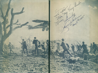 WINGS MOVIE CAST - INSCRIBED BOOK SIGNED 05/08/1965 CO-SIGNED BY: RICHARD ARLEN, CHARLES BUDDY ROGERS, WILLIAM A. WELLMAN, ADOLPH POPS ZUKOR, LUCIEN HUBBARD