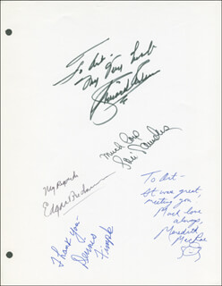 Autographs: PETTICOAT JUNCTION TV CAST - INSCRIBED SCRIPT SIGNED CO-SIGNED BY: RICHARD ARLEN, LORI SAUNDERS, CHARLES BUDDY ROGERS, EDGAR BUCHANAN, DENNIS FIMPLE, MEREDITH MACRAE