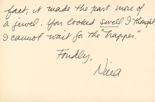 NINA FOCH - AUTOGRAPH LETTER SIGNED