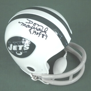 DON MAYNARD - MINIATURE HELMET SIGNED