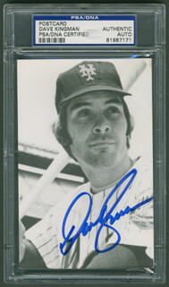 DAVE KINGMAN - PICTURE POST CARD SIGNED