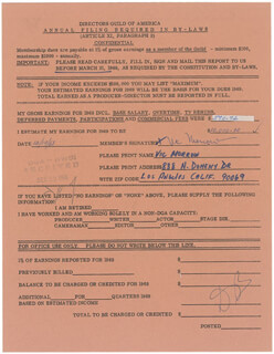 VIC MORROW - DOCUMENT SIGNED 12/19/1968
