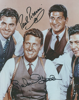 UNTOUCHABLES TV CAST - AUTOGRAPHED SIGNED PHOTOGRAPH CO-SIGNED BY: PAUL PICERNI, ROBERT STACK
