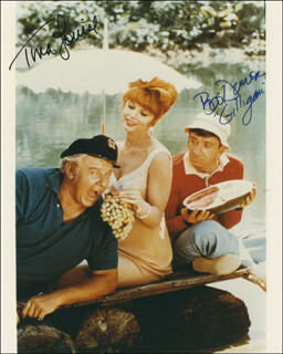 GILLIGAN'S ISLAND TV CAST - AUTOGRAPHED SIGNED PHOTOGRAPH CO-SIGNED BY: BOB DENVER, TINA LOUISE