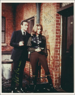 THE AVENGERS TV CAST - AUTOGRAPHED SIGNED PHOTOGRAPH CO-SIGNED BY: PATRICK MACNEE, HONOR BLACKMAN