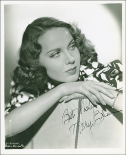 MARY BRIAN - AUTOGRAPHED SIGNED PHOTOGRAPH CIRCA 1937