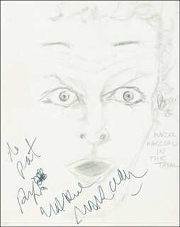MARCEL MARCEAU - ORIGINAL ART SIGNED