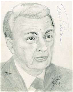 Autographs: EDDIE ALBERT - ORIGINAL ART SIGNED