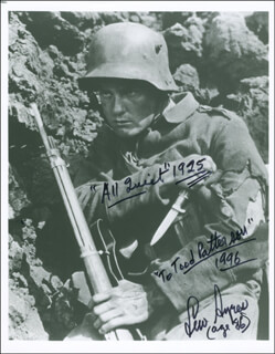 LEW AYRES - AUTOGRAPHED INSCRIBED PHOTOGRAPH 1996