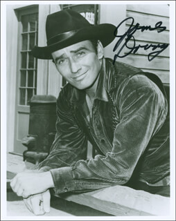 JAMES DRURY - AUTOGRAPHED SIGNED PHOTOGRAPH