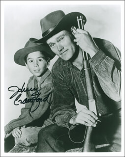 JOHNNY CRAWFORD - AUTOGRAPHED SIGNED PHOTOGRAPH