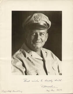 MAJOR GENERAL ROBERT BATTEY MCCLURE - AUTOGRAPHED INSCRIBED PHOTOGRAPH