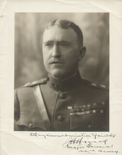 Autographs: GENERAL JOHN L. HINES - PHOTOGRAPH MOUNT SIGNED