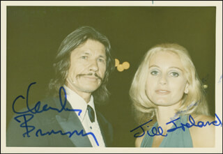 CHARLES BRONSON - AUTOGRAPHED SIGNED PHOTOGRAPH CO-SIGNED BY: JILL IRELAND