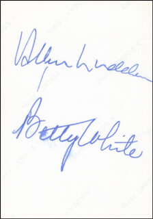 BETTY WHITE - AUTOGRAPHED SIGNED PHOTOGRAPH CO-SIGNED BY: ALLEN LUDDEN