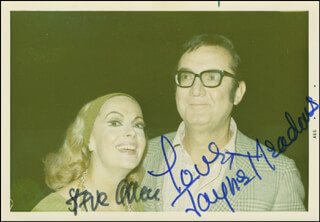 STEVE ALLEN - AUTOGRAPHED SIGNED PHOTOGRAPH CO-SIGNED BY: JAYNE MEADOWS