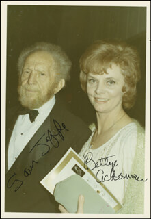 SAM JAFFE - AUTOGRAPHED SIGNED PHOTOGRAPH CO-SIGNED BY: BETTYE ACKERMAN