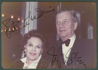JOSEPH COTTEN - AUTOGRAPHED SIGNED PHOTOGRAPH CO-SIGNED BY: PATRICIA MEDINA