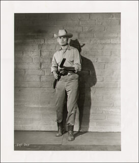 JEFF CHANDLER - PHOTOGRAPH UNSIGNED