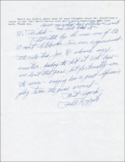 PHIL RIZZUTO - QUESTIONNAIRE SIGNED