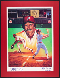MIKE SCHMIDT - LITHOGRAPH SIGNED CO-SIGNED BY: RON LEWIS