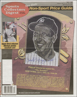 PHIL RIZZUTO - NEWSPAPER HEADLINES SIGNED