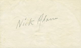 Autographs: NICK THE REBEL ADAMS - SIGNATURE(S)