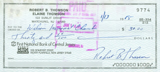 BOBBY THOMSON - AUTOGRAPHED SIGNED CHECK 01/13/1985