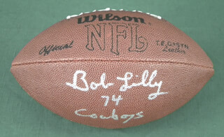 BOB LILLY - FOOTBALL SIGNED
