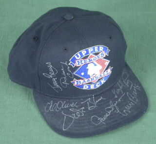 Autographs: ERNIE MR. CUB BANKS - HAT SIGNED CO-SIGNED BY: GAYLORD PERRY, VIDA BLUE, AL MR. SCOOP OLIVER, JERRY ROLLS REUSS, ROLLIE FINGERS, DAVE CASH