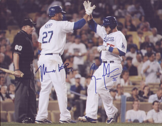 MATT KEMP - AUTOGRAPHED SIGNED PHOTOGRAPH CO-SIGNED BY: RUSSELL MARTIN