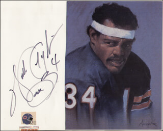 WALTER SWEETNESS PAYTON - PHOTOGRAPH MOUNT SIGNED
