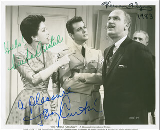THE PERFECT FURLOUGH MOVIE CAST - AUTOGRAPHED SIGNED PHOTOGRAPH 1983 CO-SIGNED BY: KEENAN WYNN, TONY CURTIS, LINDA CRISTAL