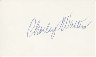 CHARLEY WALTERS - AUTOGRAPH