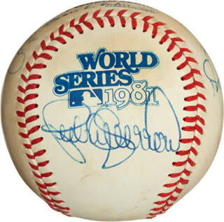 THE LOS ANGELES DODGERS - AUTOGRAPHED SIGNED BASEBALL CO-SIGNED BY: PEDRO GUERRERO, RON CEY, STEVE YEAGER