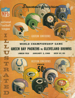 GREEN BAY PACKERS - PROGRAM UNSIGNED 01/02/1966 WITH CLEVELAND BROWNS