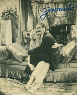 GROUCHO (JULIUS) MARX - GREETING CARD SIGNED