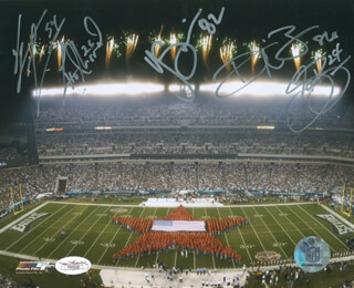 PHILADELPHIA EAGLES - AUTOGRAPHED SIGNED PHOTOGRAPH CO-SIGNED BY: L. J. SMITH, JEREMIAH TROTTER, LITO SHEPPARD, SHELDON BROWN, REGGIE BROWN