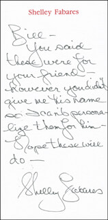 SHELLEY FABARES - AUTOGRAPH LETTER SIGNED