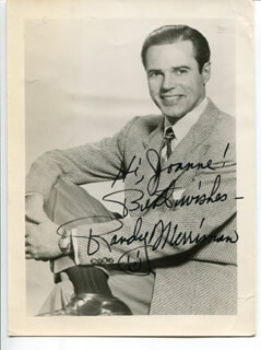 RANDY MERRIMAN - AUTOGRAPHED INSCRIBED PHOTOGRAPH