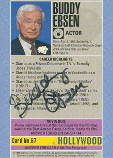 BUDDY EBSEN - TRADING/SPORTS CARD SIGNED