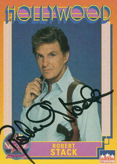 ROBERT STACK - TRADING/SPORTS CARD SIGNED