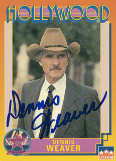 DENNIS WEAVER - TRADING/SPORTS CARD SIGNED