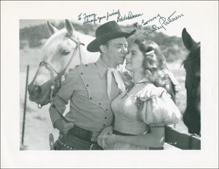 DRIFTIN' RIVER MOVIE CAST - INSCRIBED PRINTED PHOTOGRAPH SIGNED IN INK CO-SIGNED BY: EDDIE DEAN, SHIRLEY PATTERSON