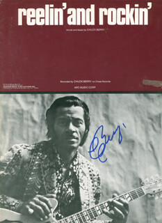 CHUCK BERRY - SHEET MUSIC SIGNED  - HFSID 291243