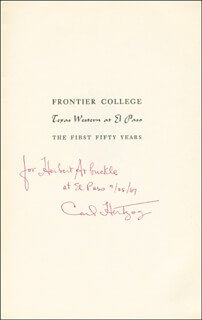 CARL HERTZOG - INSCRIBED BOOK SIGNED 07/25/1967